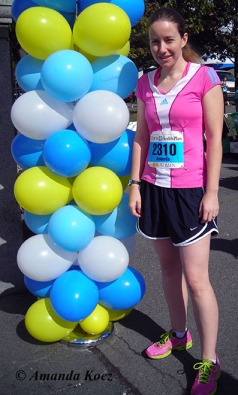 Before the start of the Tufts 10K for Women on October 8, 2012