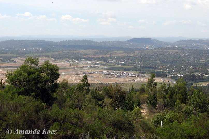 Yes Canberra's there somewhere... view from Mt Stromlo Observatory.