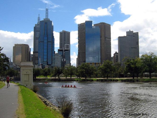 Melbourne from near the Botanic Gardens.