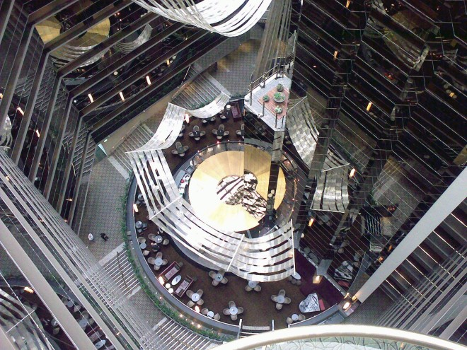 Inside the Sofitel, Melbourne (this picture is a couple of years old now).