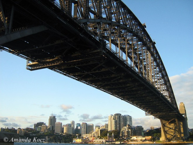 Harbour Bridge up close.