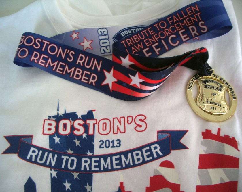 Medal and T-shirt.