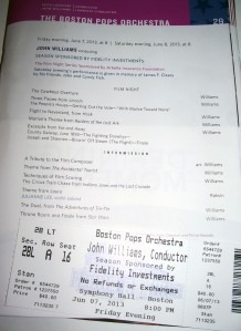 Program and ticket