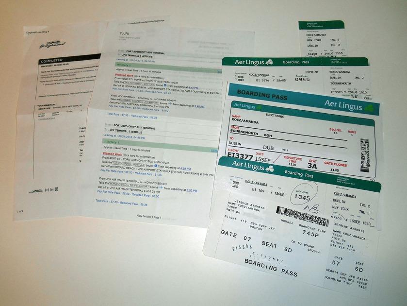 Quite a bit of paperwork...