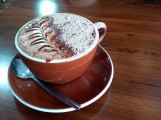 Superb hot chocolate, Ashburton