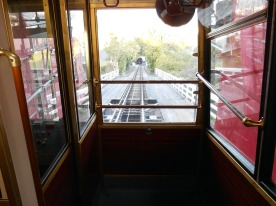 Cable car to the Botanic Gardens, Wellington