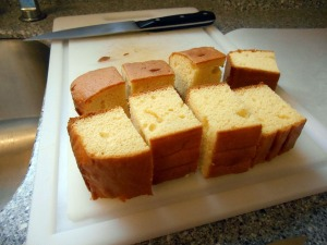 make cake - I used a packet mix