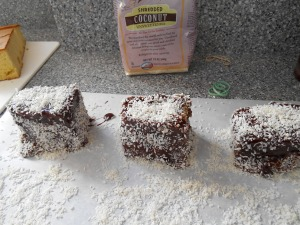 if you coat the baking paper with coconut then you can use that for the final side