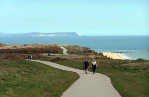The Isle of Wight polar bear from Hengisbury Head.