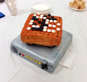 Ben's cake: a Roach board (don't ask) and a Go board - wow!
