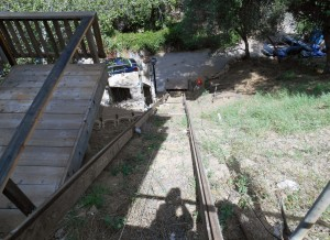 Can you imagine asking the movers to bring your fridge up on those rails?