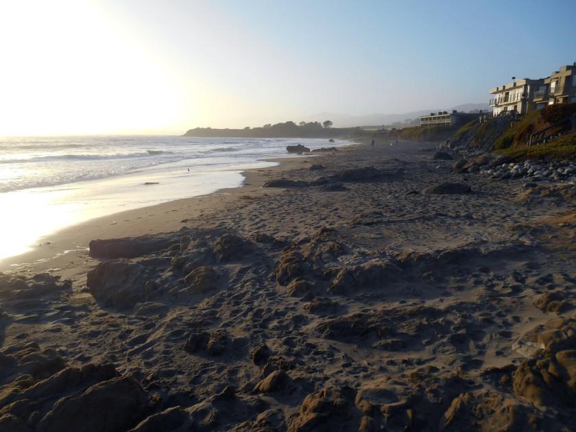 Sunset walk, San Simeon