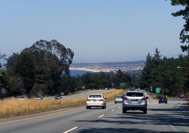 Sweeping past Monterey.