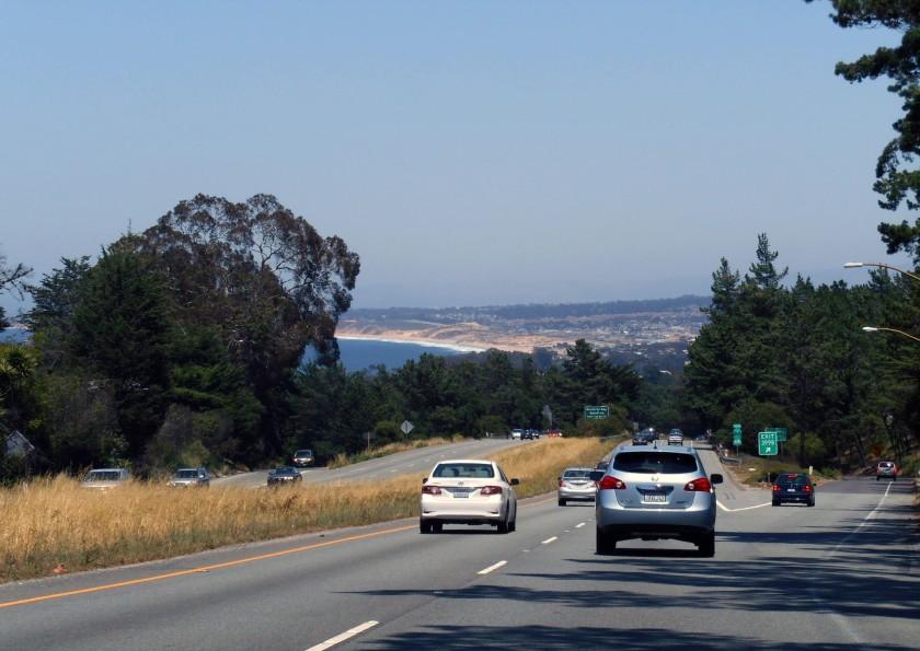 Sweeping past Monterey.