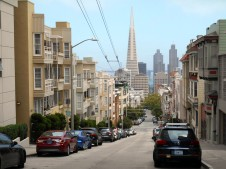 San Francisco: From the top of a big hill
