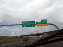 Wet road to Flagstaff