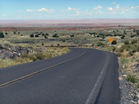 The painted desert in the distance