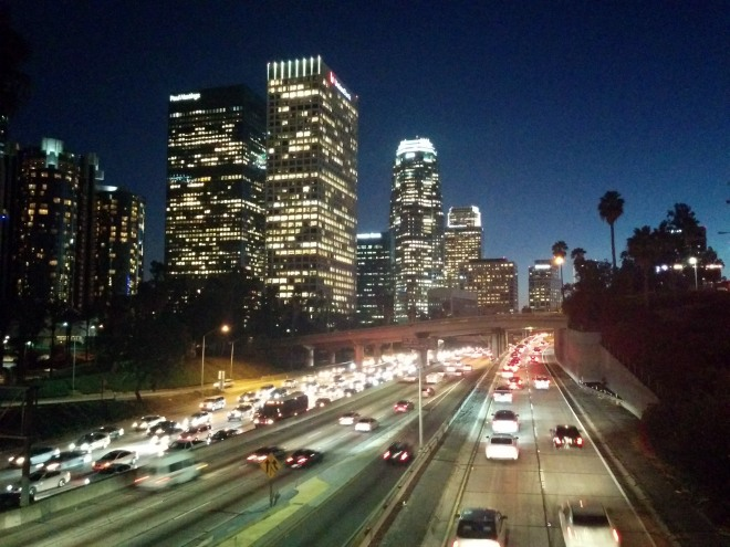 Downtown LA - Dad's picture was much better, obviously!