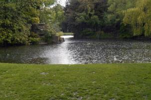 Rain at St Stephen's Green
