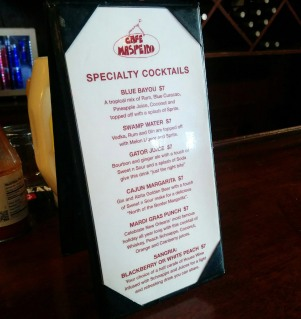 Cafe Maspero cocktail list