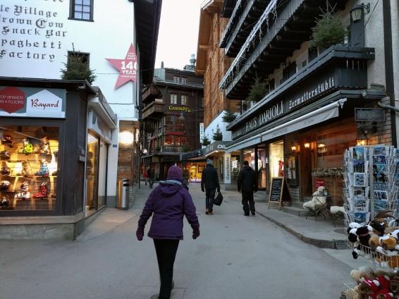 Zermatt town center
