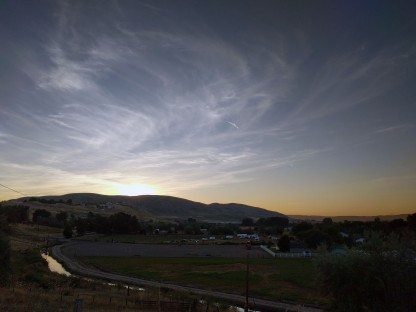 Sunrise at our eclipse viewing location in Weiser, ID